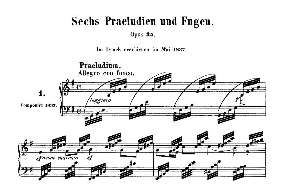Felix Mendelssohn Fugue in B- (from Prelude and Fugue in Bdur Op. 35 DomPełenMuzyki