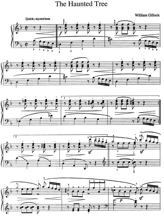 The Haunted Tree - nauka gry na pianinie
